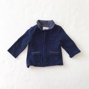 Mayoral navy blue elbow patch blazer VGUC newborn